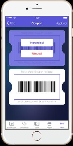 Tekio App loyalty, la fidelizzazione retail mobile e omnicanale per i tuoi negozi coupon virtuali, carta fedeltà, punti on line